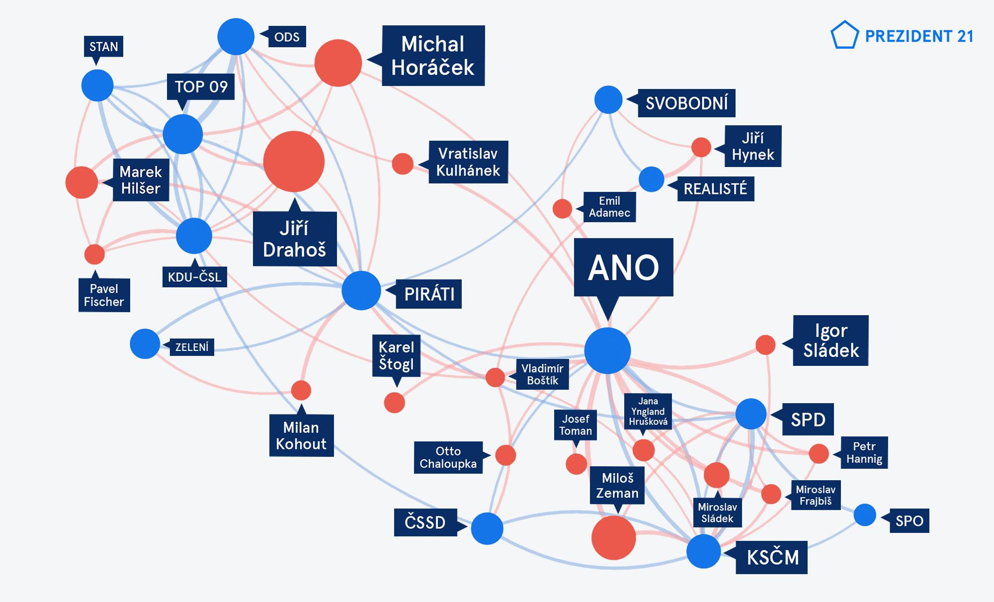 Mapa voličů pro prezidentské volby 2018