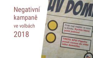 Negativní předvolební kampaň 2018 SPD