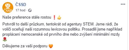 Předvolební průzkum STEM únor 2019