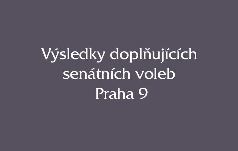 Výsledky doplňkových senátních voleb Praha 9, č. 24