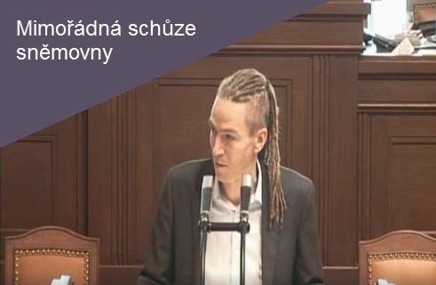 Mimořádná schůze sněmovny 25. 4. Ivan Bartoš Piráti, kritika Babiše