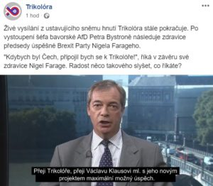 Trikolóra Nigel Farage