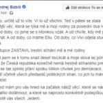Facebook Andreje Babiše – konec stíhání