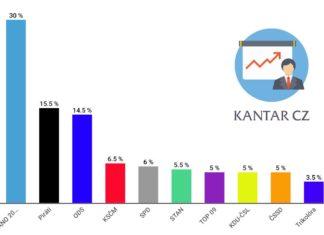 Volební preference Kantar CZ | říjen 2019