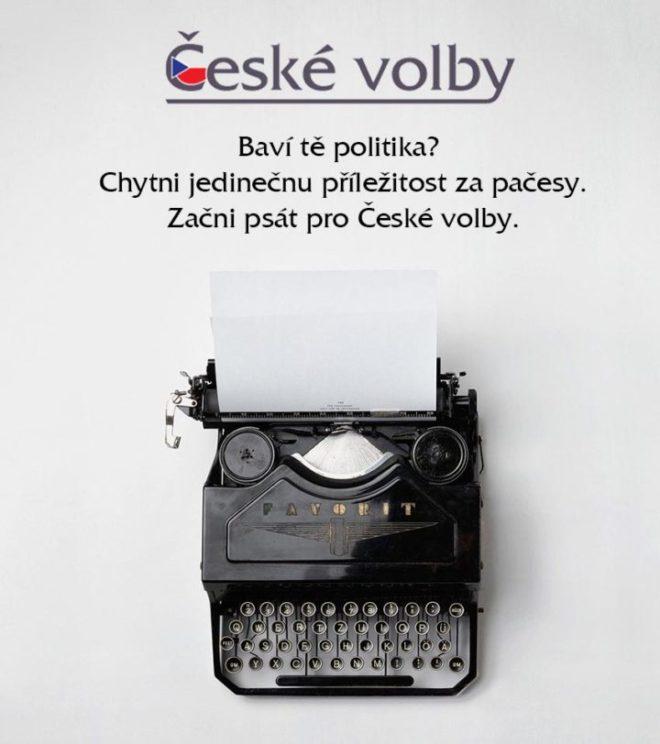 České volby - možnost psát.